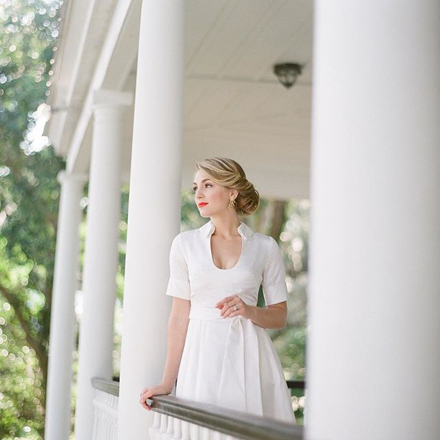 The sun is (finally!) shining in Charleston and we are dreaming of garden parties and weddings on the lawn...#romanceatrockville  Gown: Reine @MasonHosker  Photographer/Stylist: @annerhettphotography  Model: @abagz  Hair: @salonvari  Makeup: @pamelaleschmakeup  Jewelry: @christinajerveyjewelry  Florals: @stephaniegibbsevents  #southernbride #weddings #charleston #bridetobe