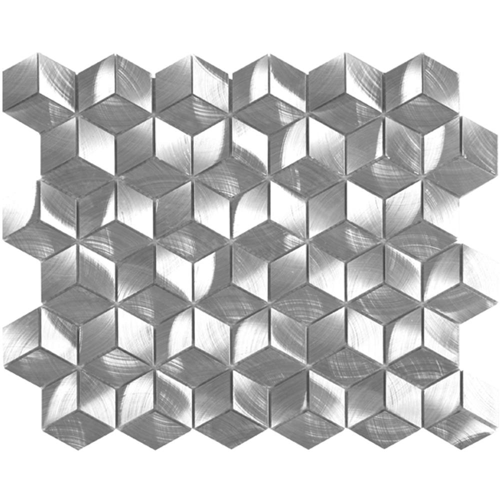 """Diamond Cube Silver  LW.AL.SIL.DIA.CUB.BD  (12.6"""" x 10.9"""")"""