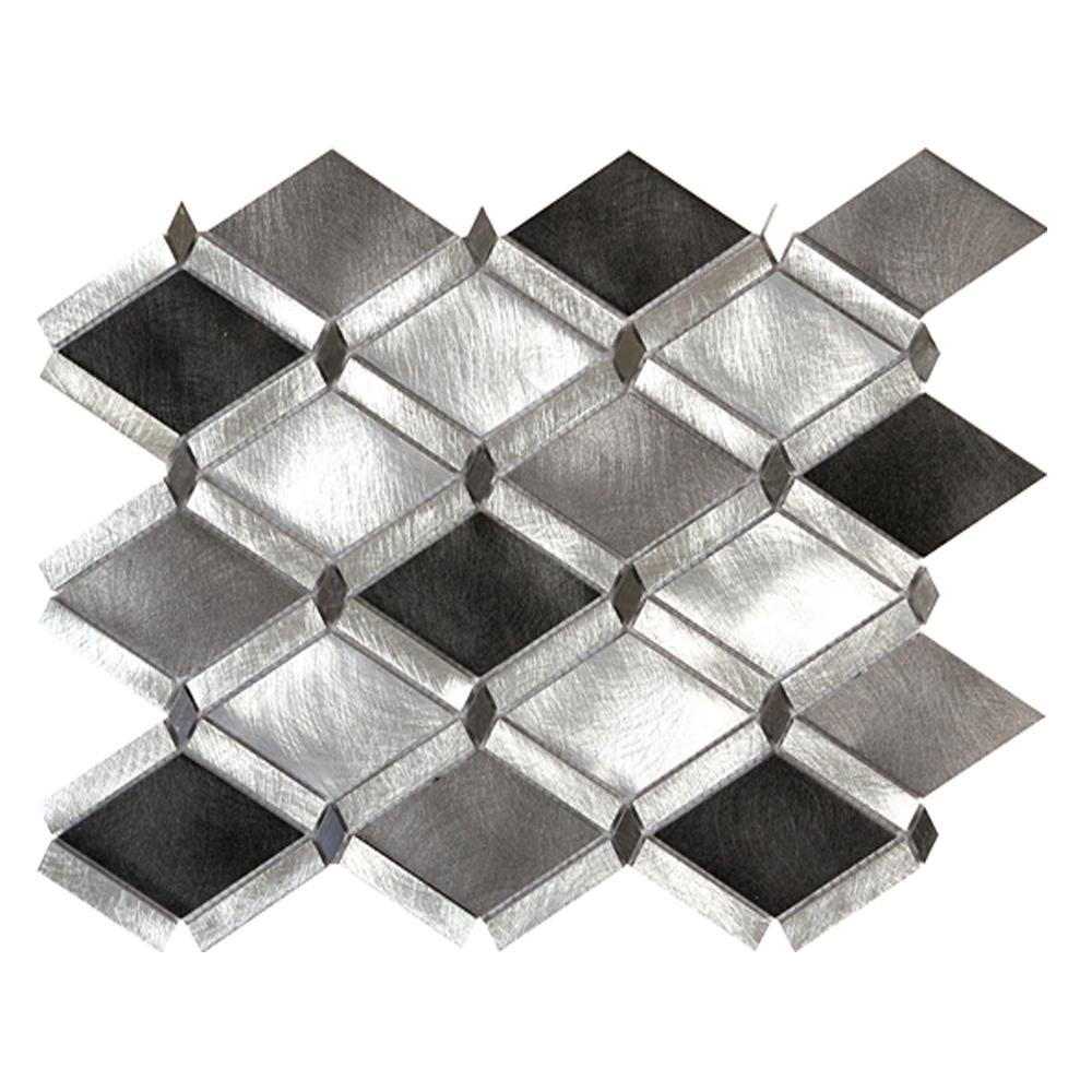 "Diamond Mosaic Silver Blend  LW.AL.SIL.2,2.DIA.BD  (13.5"" x 9.25"")"