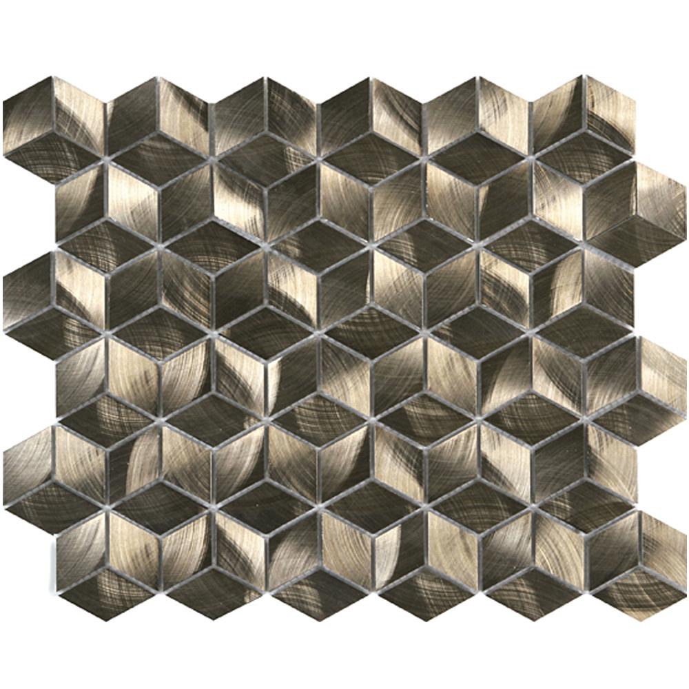 "Diamond Cube Bronze  LW.AL.BRZ.DIA.CUB.BD  (12.6"" x 10.9"")"