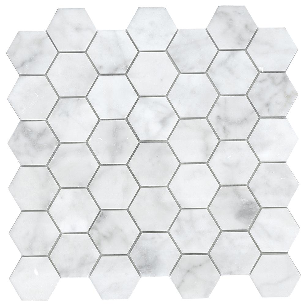 "2"" Hexagon  Polished | GM.B.CARRARA.HEX"