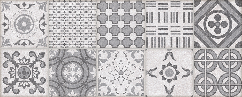 "Grey Decor  8"" x 20"" 