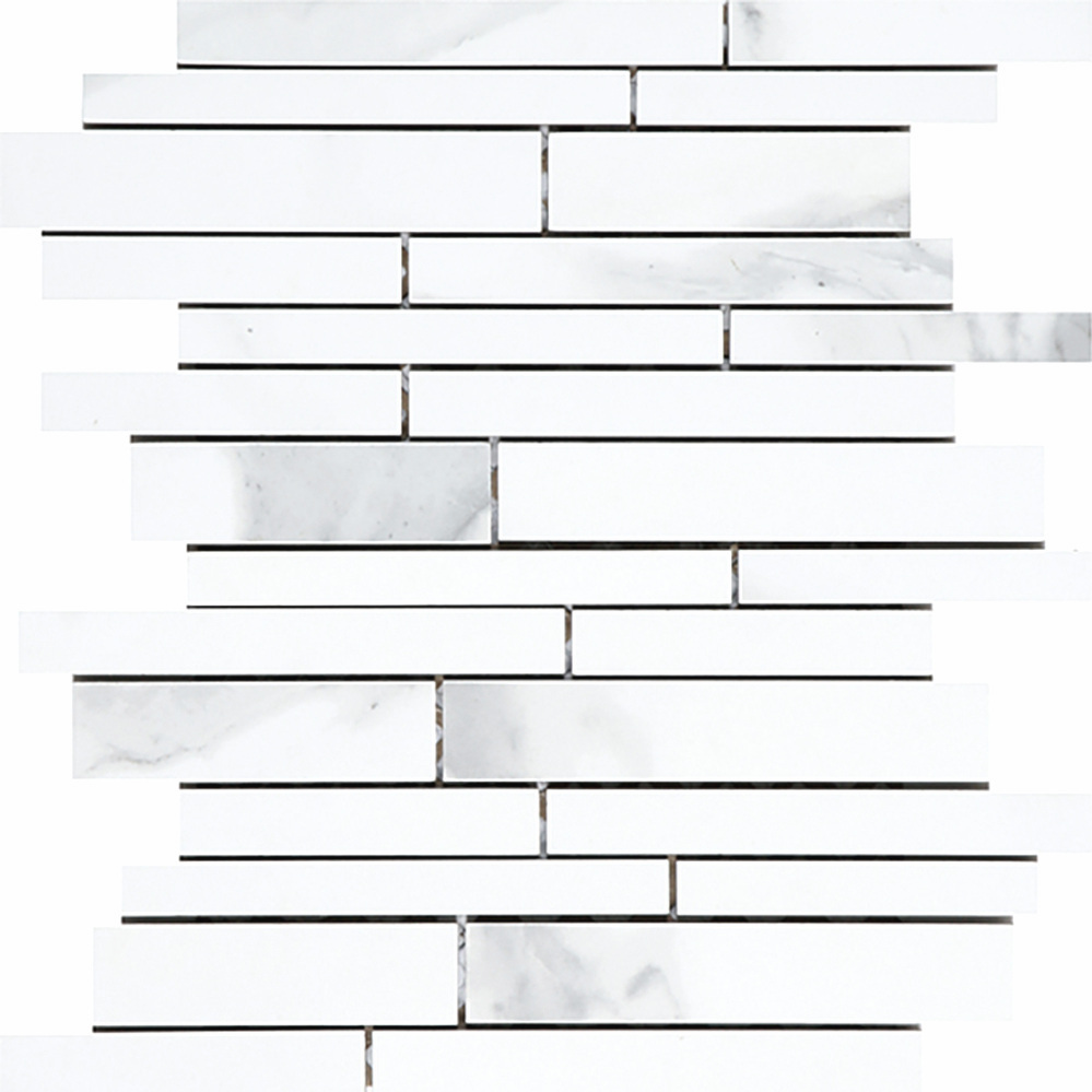 Irregular Linear Mosaic - White  Matte | OV.CX.WHT.LN.IRR.MT  Polished | OV.CX.WHT.LN.IRR.PL