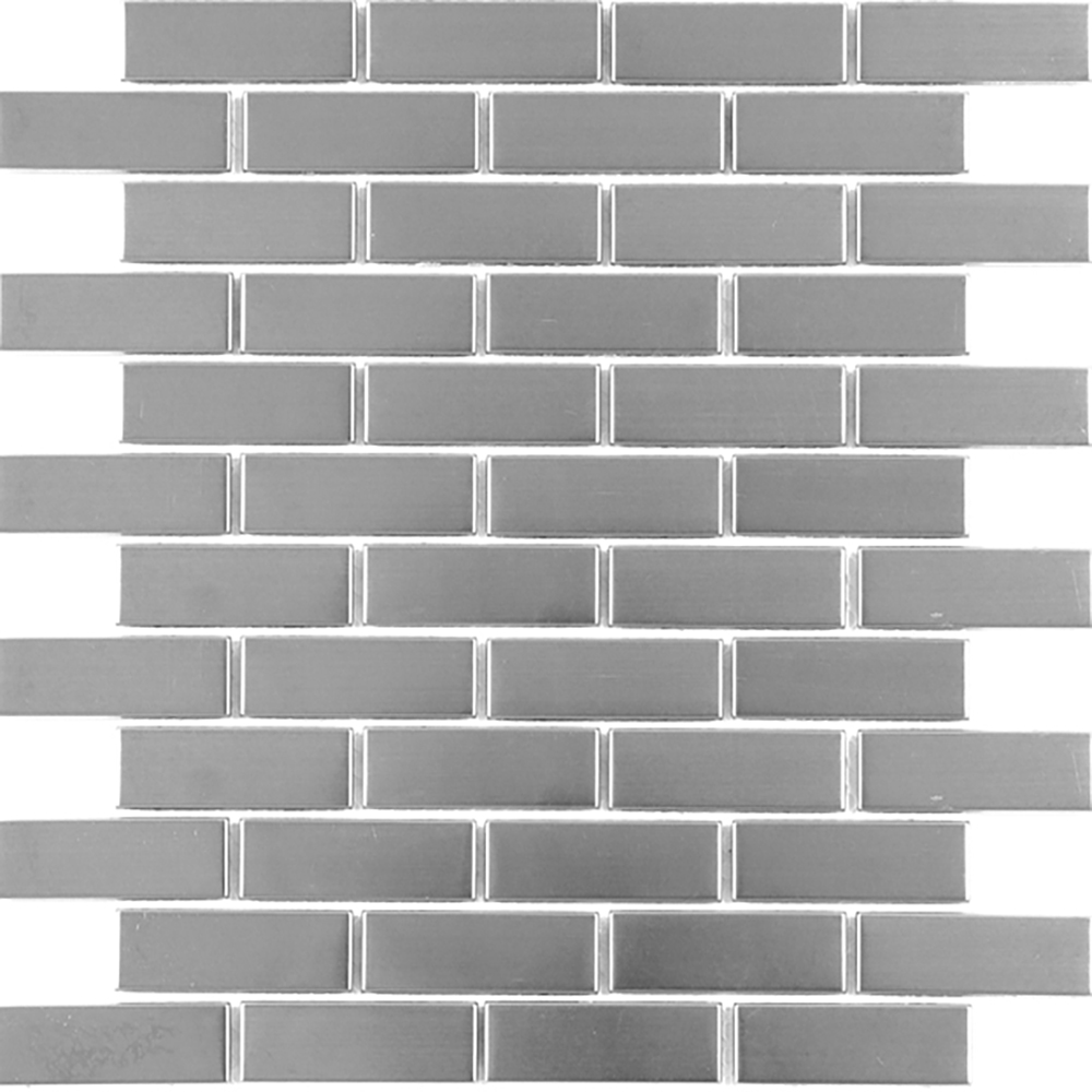 Silver Brick  Brushed | RJ.MT.SIL.0,75X2,5BD