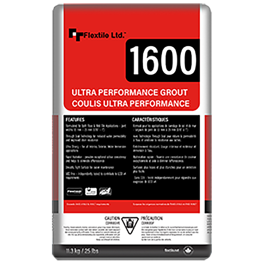 1600 UPG   Flextile 1600 Ultra Performance Grout is a premium polymer modified, pre-sealed color-consistent grout. Its unique fast-setting formulation ensures color uniformity without efflorescence and is suitable for both wall and floor tiles.