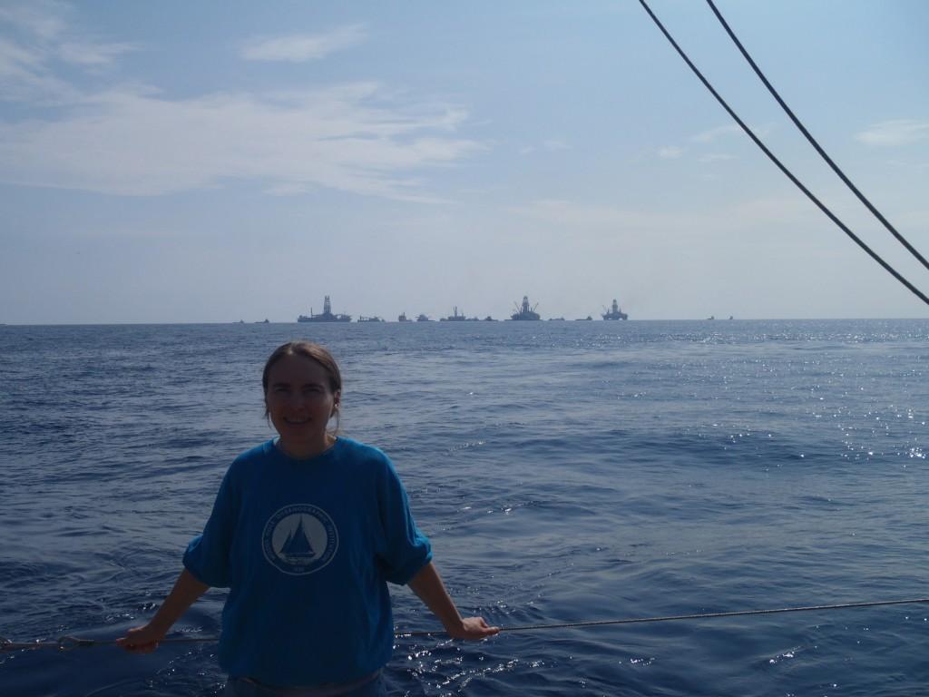 Dr. Samantha Joye at sea