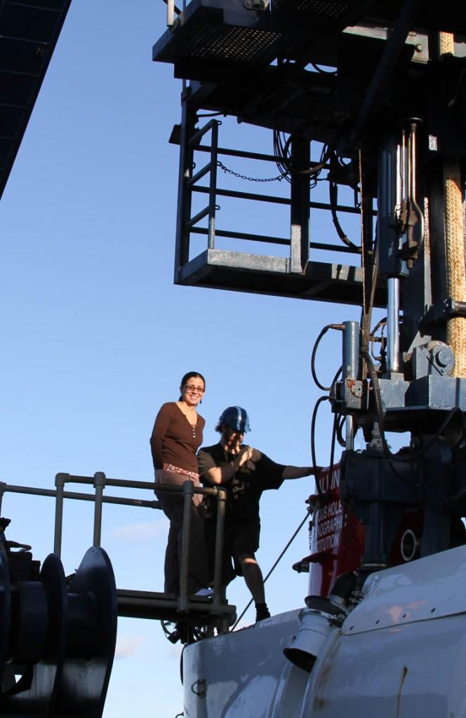Melitza Crespo (UGA) getting ready to enter the ALVIN
