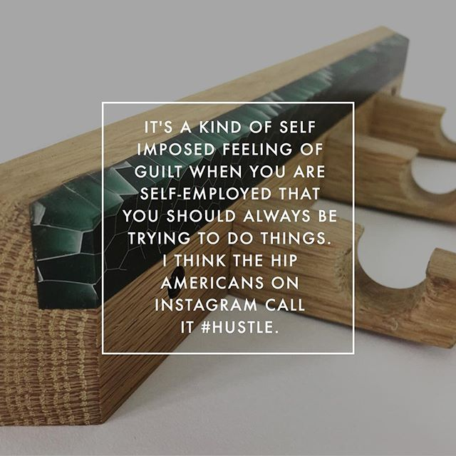 Had a little chuckle at this quote from @elliotdesignuk during our interview. Link in bio. Really cool guy that makes some great stuff. . . #maker #woodworking #woodwork #design #makersgonnamake #woodcraft #wooddesign #epoxy #epoxyresin #furnituredesign #furniture
