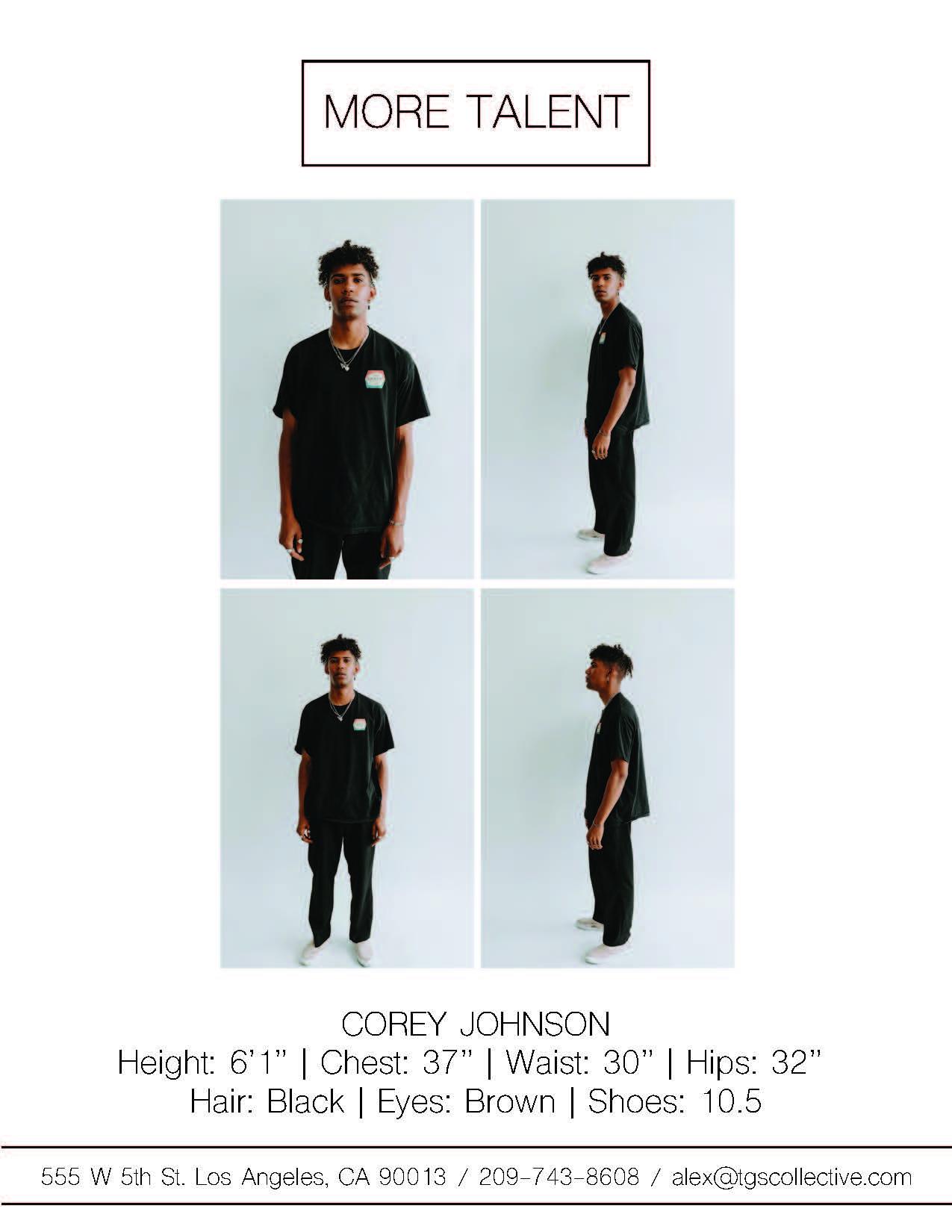 COREY JOHNSON MORE TALENT