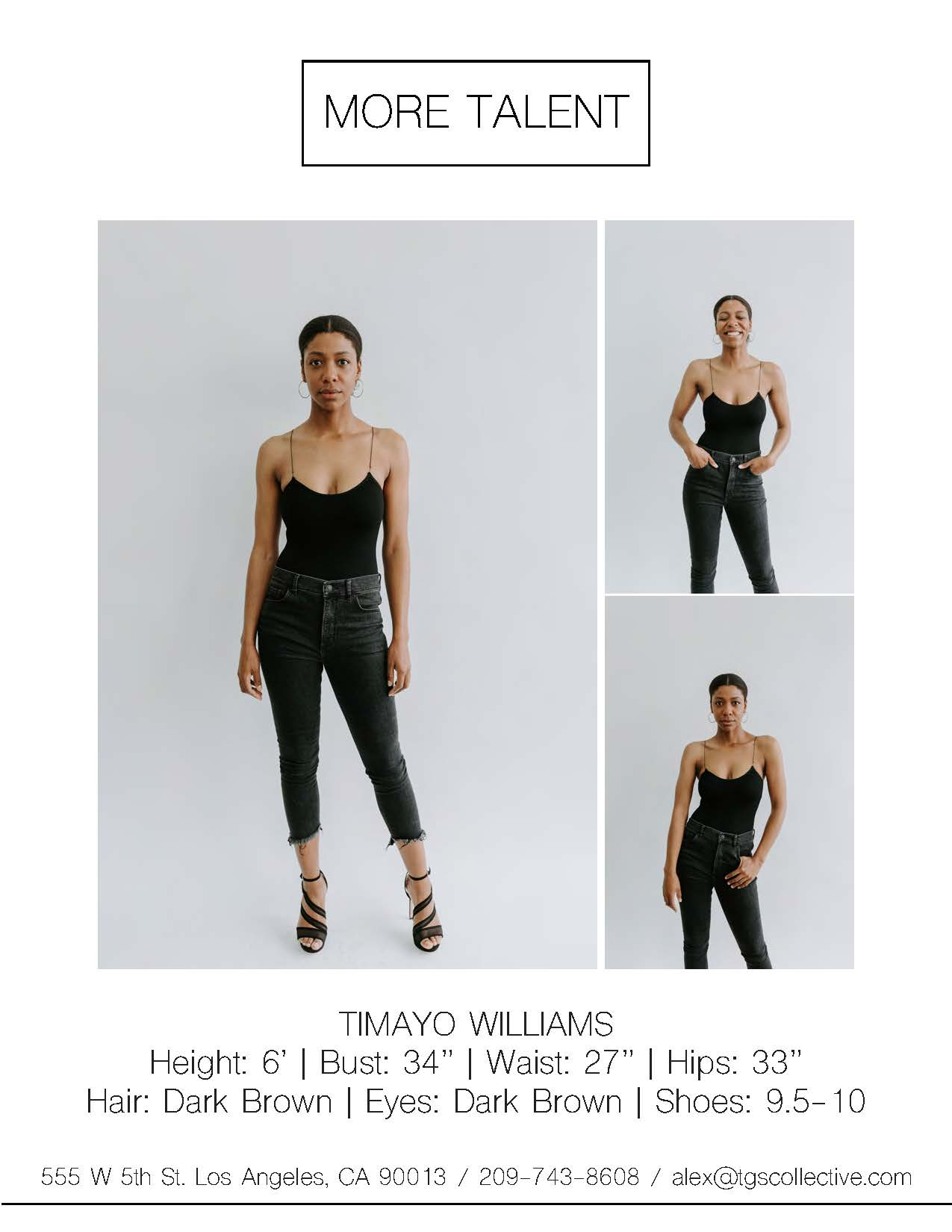 TIMAYO WILLIAMS MORE TALENT