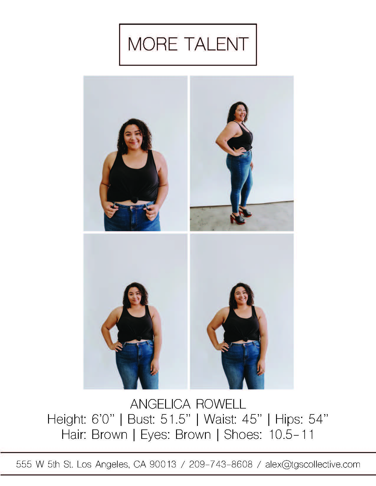 ANGELICA ROWELL MORE TALENT