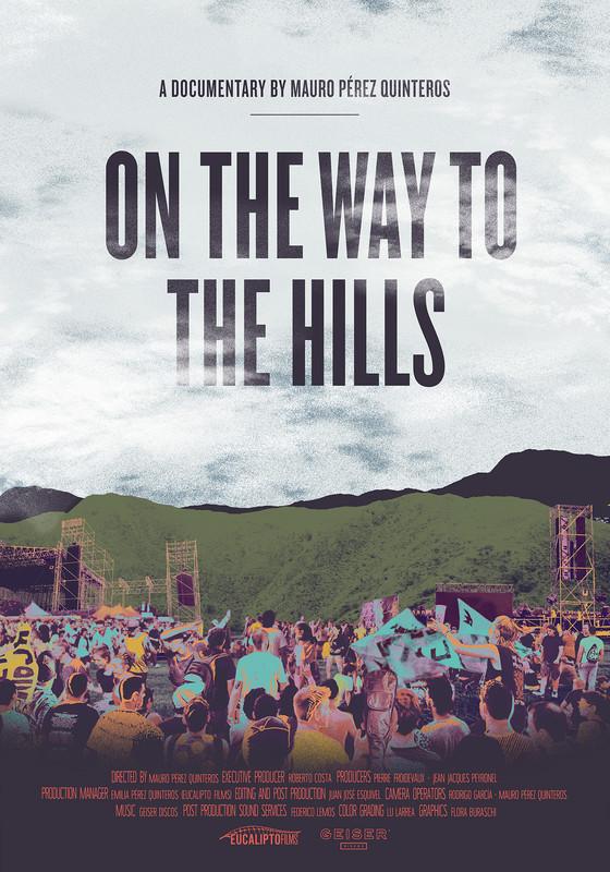 On the Way to the Hills - El Festival Cosquín Rock es uno de los eventos musicales más importantes de América Latina. Nacido hace más de 15 años en el centro de Argentina, en las sierras de Córdoba y lejos de la Capital, se ha transformado en un hito de consagración obligado par el rock nacional. Su convocatoria masiva a pesar de su emplazamiento serrano, lo convierte en un festival único en su tipo. En el marco de este evento, el sello discográfico Geiser creó un espacio que busca darle voz a las bandas emergentes. El documental se hace portavoz del contacto entre la escena indie argentina y esta histórica celebración en las sierras. Las escenas artísticas, y en concreto las musicales, cristalizan por si mismas los paradigmas de una época.  El rock, históricamente urbano, se da cita en el medio del país generando una masividad espontánea, en la que músicos consagrados y artistas emergentes se reúnen celebrar una vez por año a la escena musical de Argentina.
