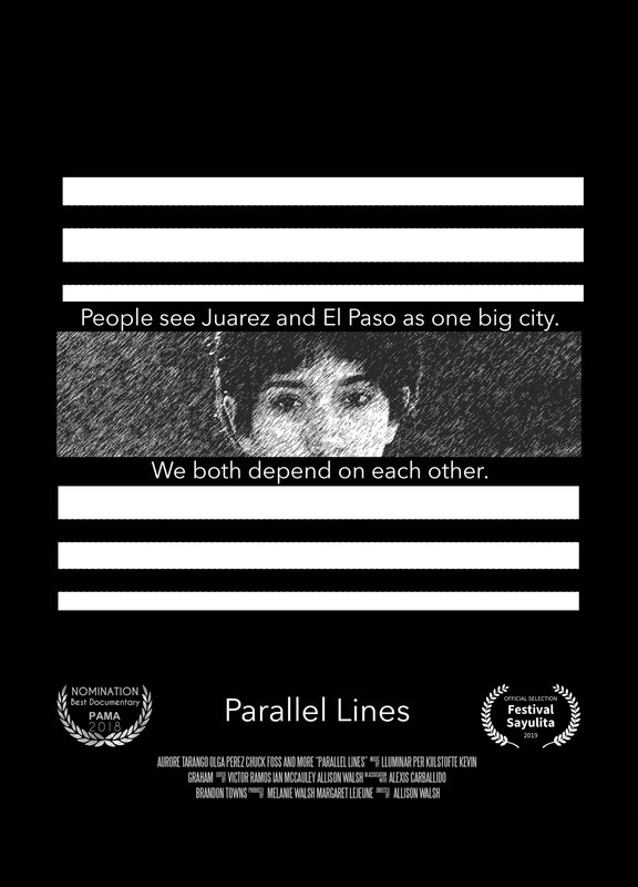Parallel Lines - Parallel Lines tells the stories of Olga Perez, a formerly undocumented maid, and Chuck Foss, a former U.S. border patrol agent, who respectively live in the border towns of Juarez, Mexico, and El Paso, Texas, and whose occupational histories would seem to put them at odds. But the stories Olga and Chuck share reveal a much more complex relationship between those who police the border and those who cross it, which also includes compassion, respect, and a shared daily existence.
