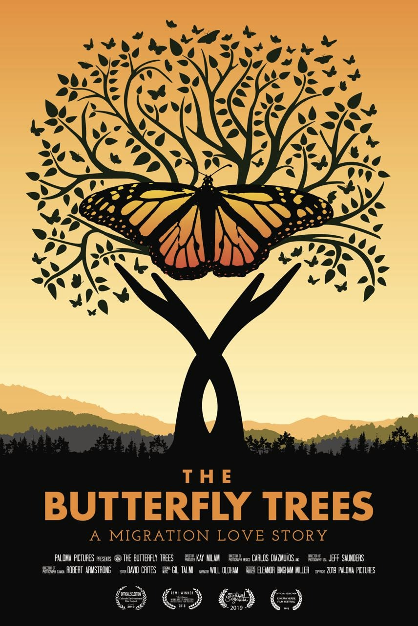 The Butterfly Trees - The Butterfly Trees is a documentary feature film that captures the transcontinental journey of the eastern monarch butterflies on their epic migration from the forested shores of Southern Canada to the rare and ancient oyamel fir trees of Central Mexico. Part science, part adventure, and part love story, the film is a captivating reflection on the profound mysteries of the natural world and the ties that irrevocably connect us all. The story weaves together a wondrous tapestry of stunning visuals, passion for discovery, and the eclectic mix of the people for whom these butterflies have become a magnificent obsession.Filled with allegory and poetic contemplations, The Butterfly Trees brings to the screen a universal story of life and the search for legacy and meaning by using the monarch migration as a poignant metaphor that embodies love, hope, transformation and connections that transcend borders.The monarch butterfly is emblematic of our fragile and complex ecology. But the monarch is also a potent symbol for our individual life's journey, intergenerational connection, and the quest for mutual belonging and finding our place in this world.