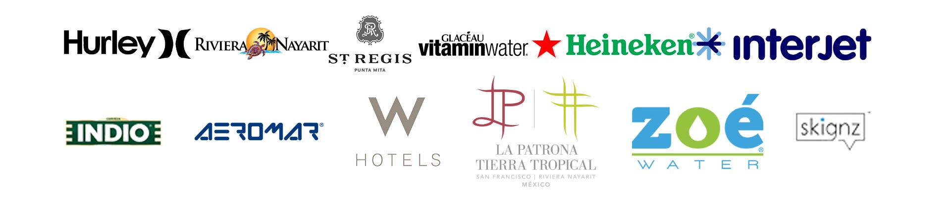 Solo algunas de las marcas con las que hemos trabajado.