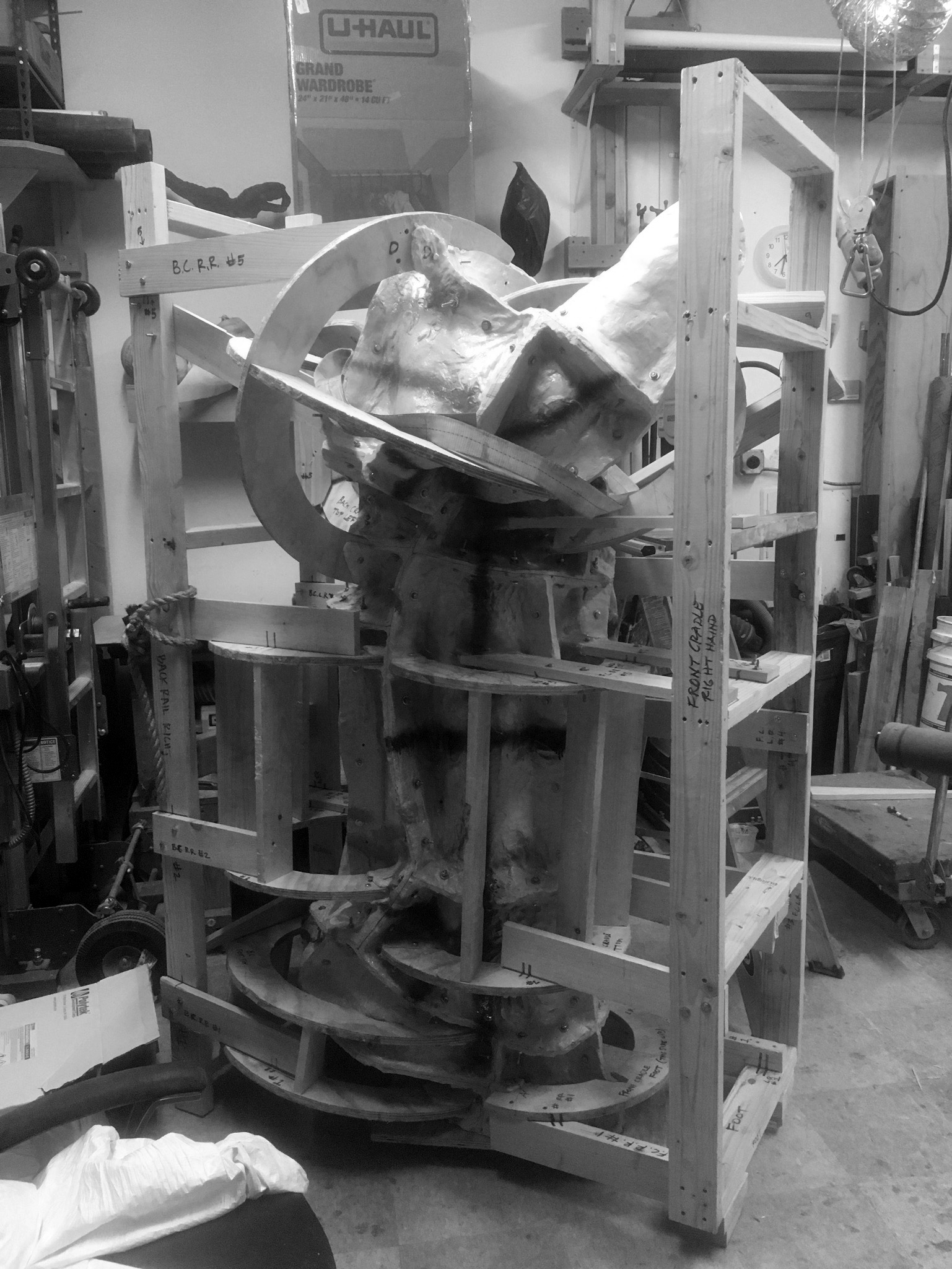 Mold and Cradle Assembled for Casting