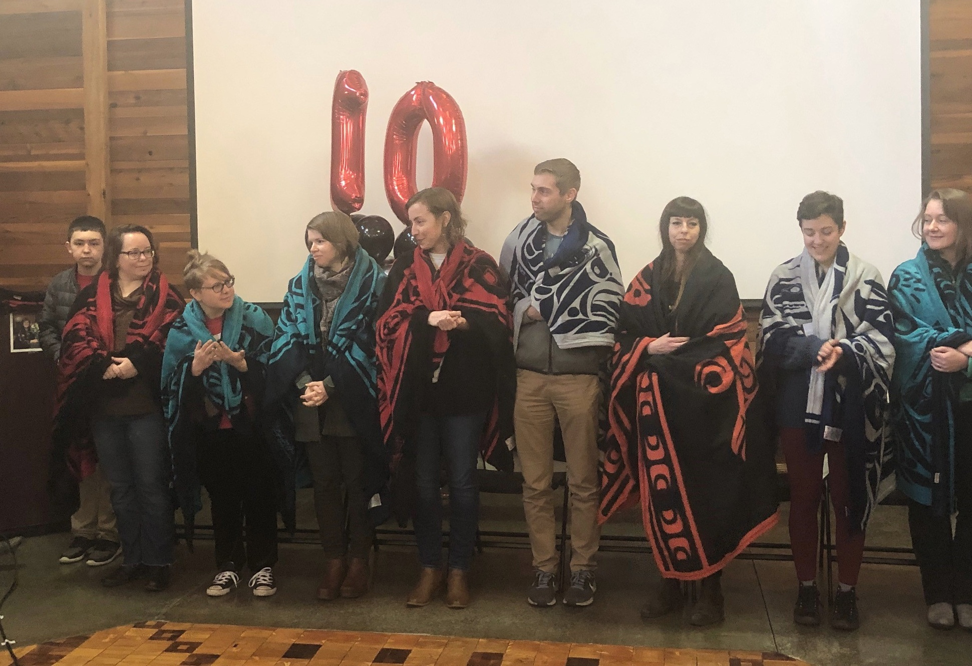 10th Anniversary Celebration - 2019 marks the ten year anniversary of the Duwamish Longhouse and Cultural Center. Join us in our tenth year as we continue to celebrate the building of our cultural center and our community.Picture: CARW Solidarity Group honoring