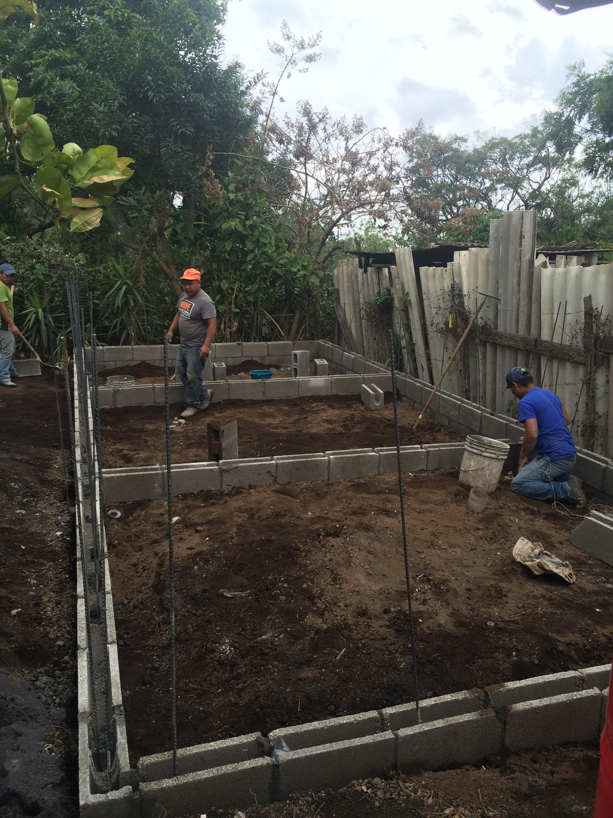 A three room house being built for a family of seven in Alotenango