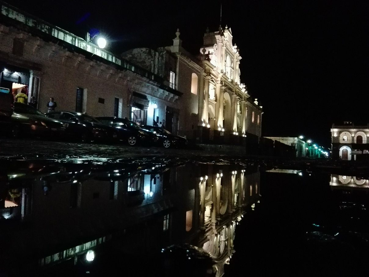 Antigua at night after the rain