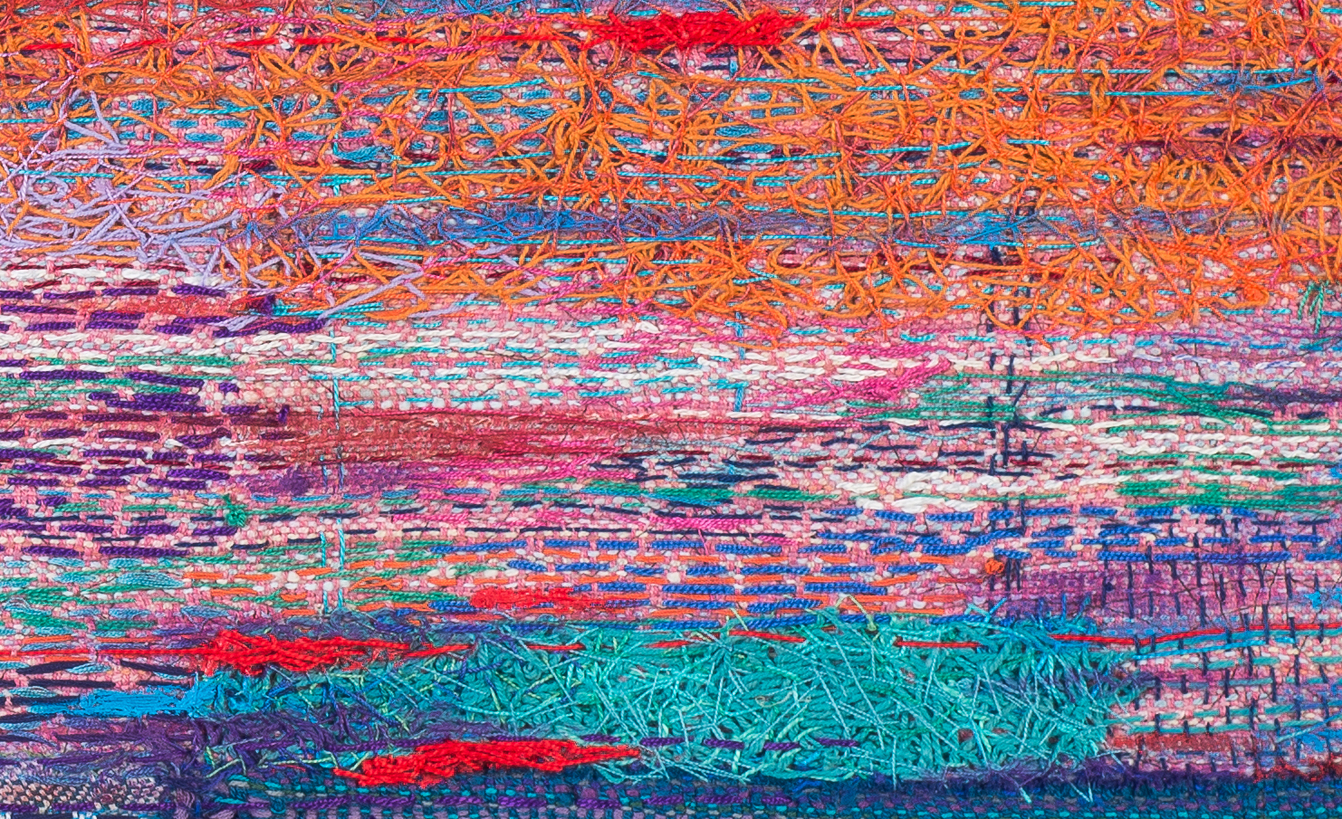 Shin-hee Chin, detail from  pink cloud sunset