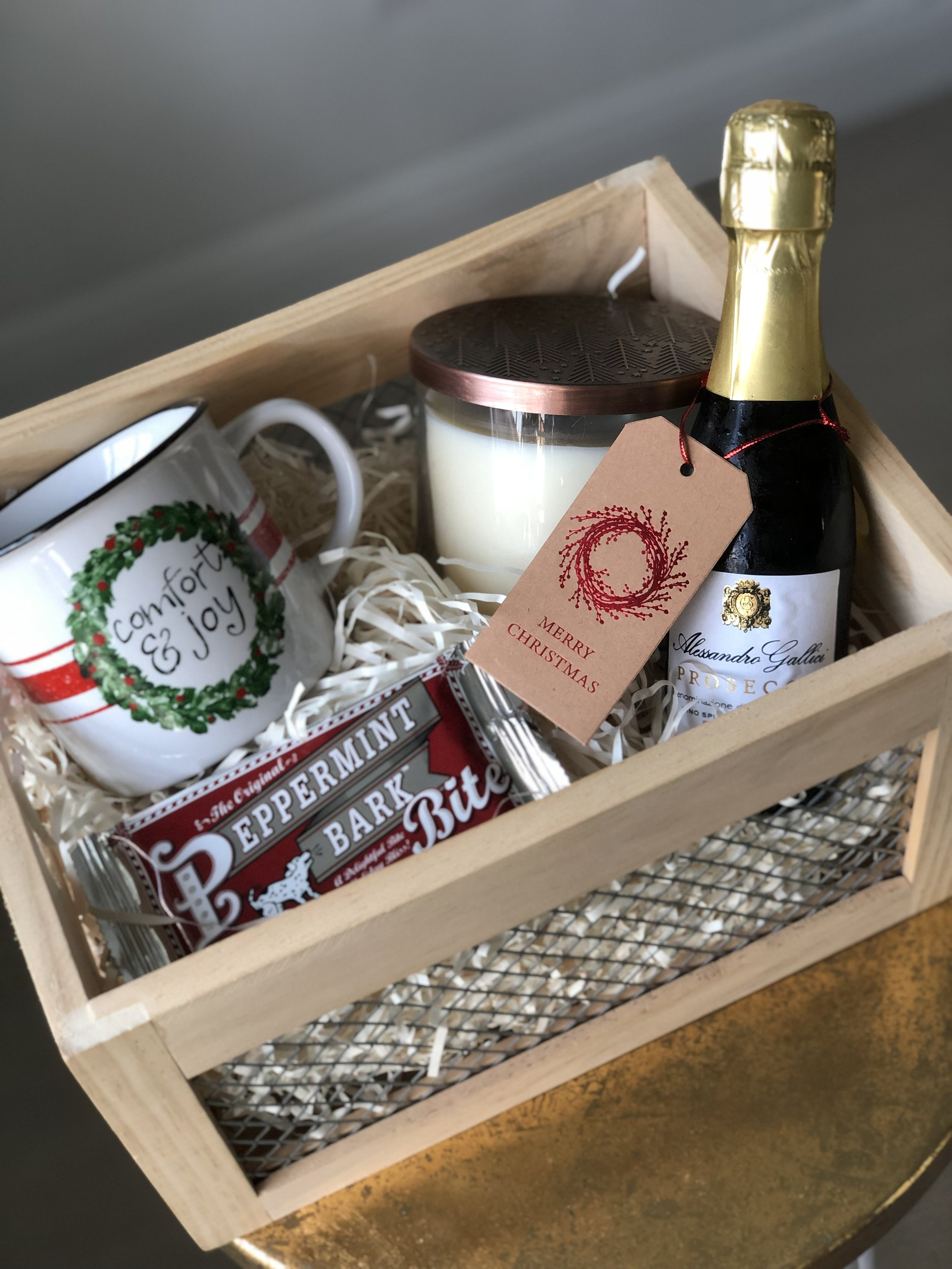 Gifts - Gifts for all occasions are also available. We can take care of finding the right items for house warming, wedding, new baby, holiday, or just because gift. You can also customize your gift by adding flowers, wine, or candles to any of our boxes.