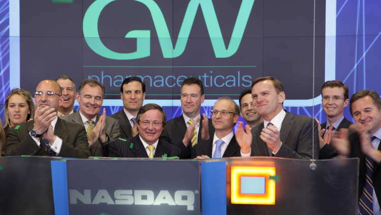 GW Pharmaceuticals has a current market capitalisation of around $4.5 billion dollars on the US Nasdaq Stock Exchange Market, Credit: GW Pharmaceuticals