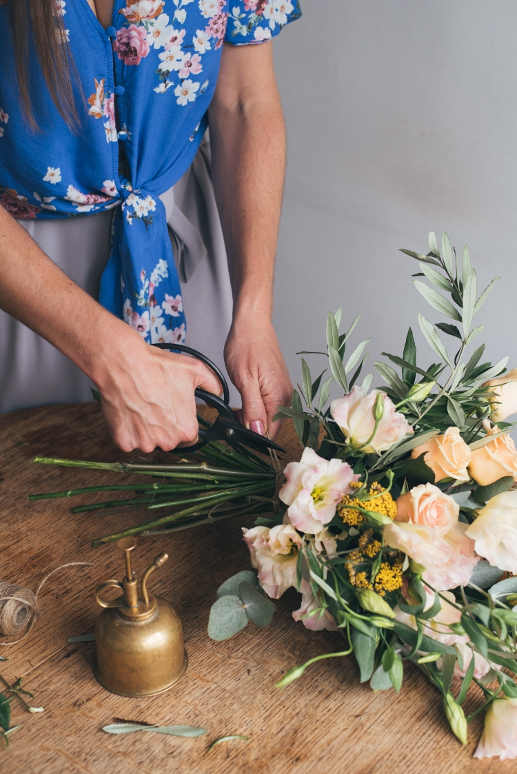 You can also give the flowers a reshuffle each time you change the water, take out any stragglers that have seen better days.