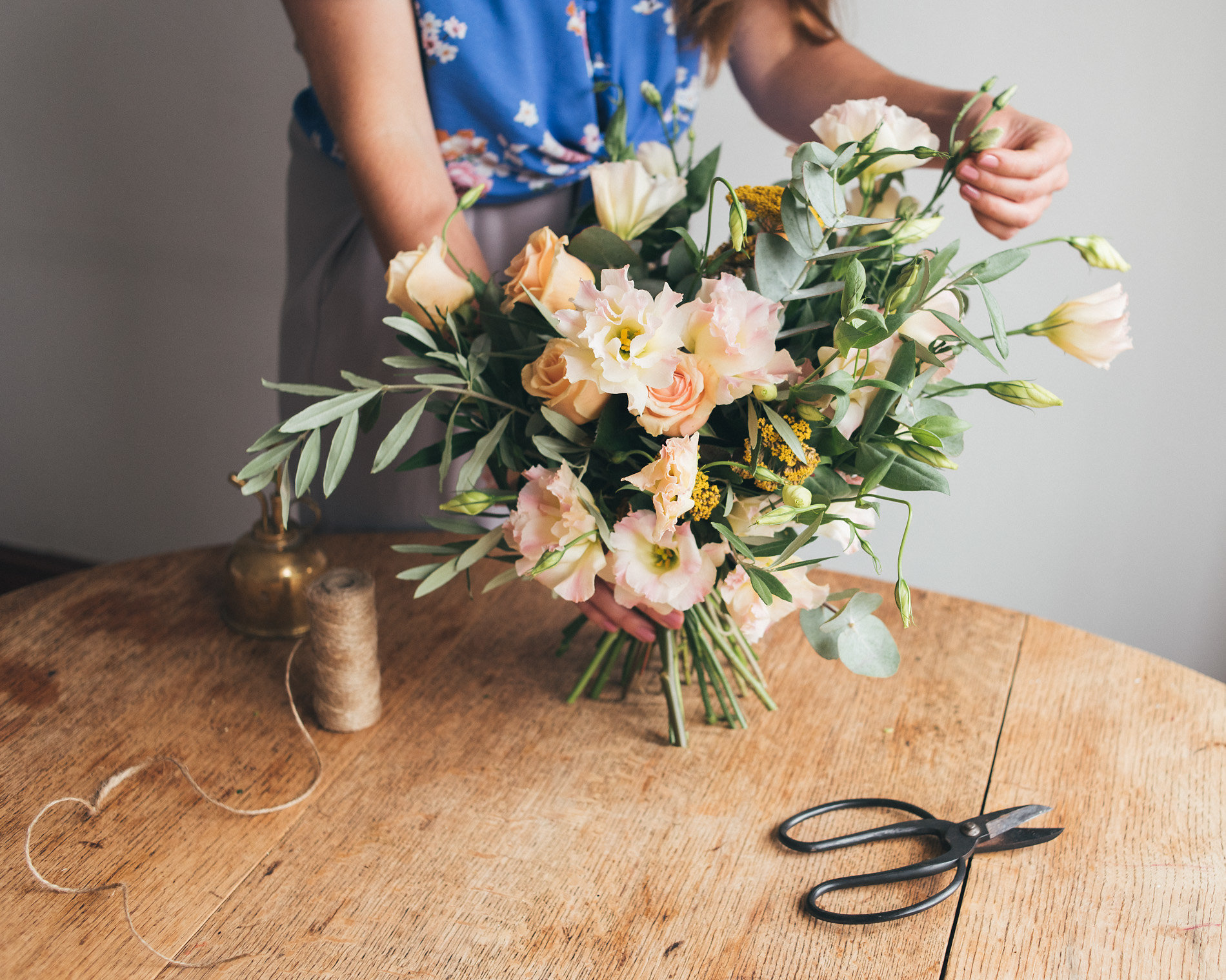 If you'd like to follow step 4 and make something - Here's a guide to arranging flowers in a vase at home.