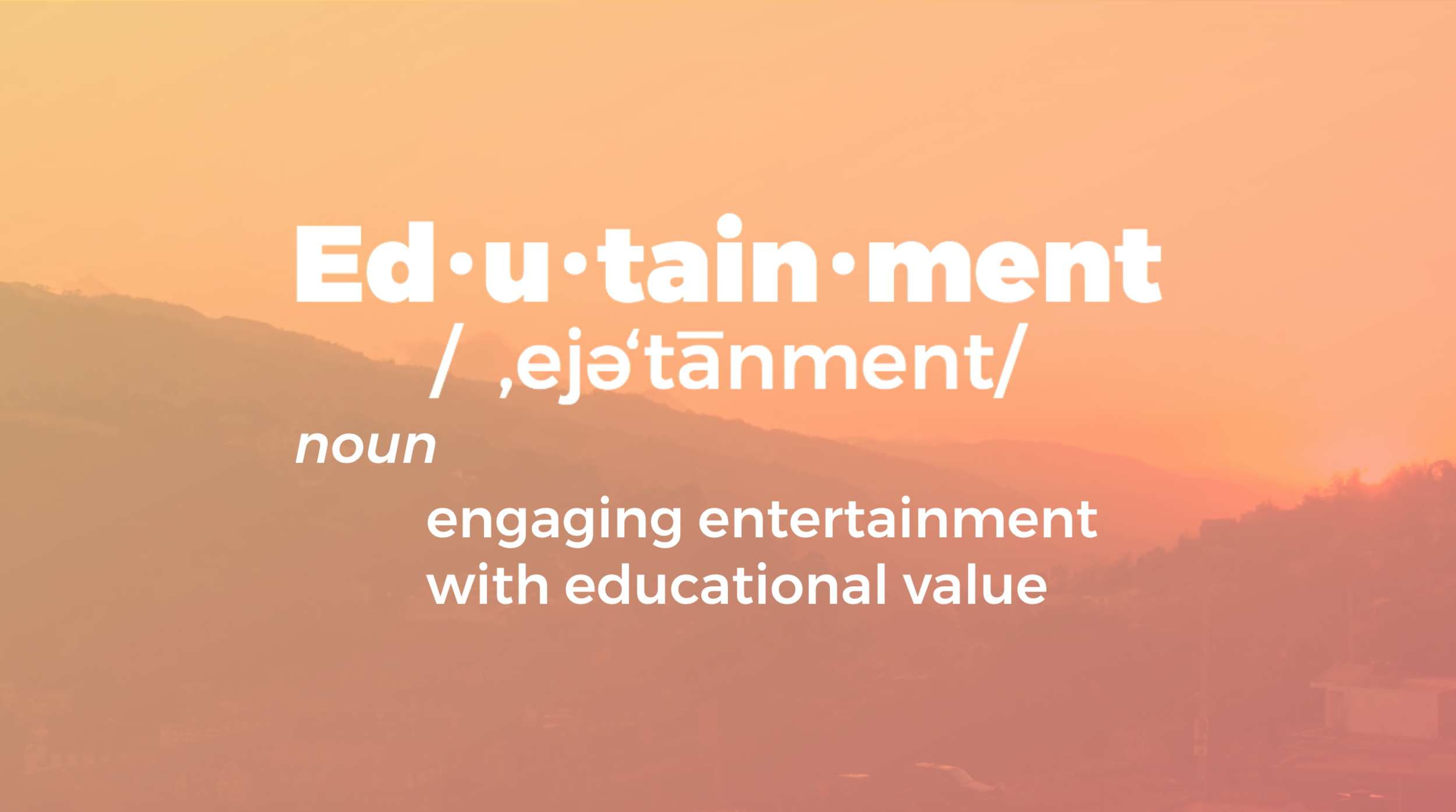 """Edutainment is the currency of the learning economy. In order to engage and accelerate the adoption of new ideas, content must help to """"make it their idea."""" A push or telling approach to sharing information rarely is rumor worthy. However, when content allows for self-discovery, it pulls the audience in and allows for acceptance and reinvention."""