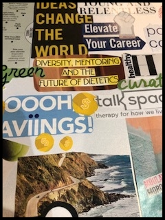 Part of the inspired vision board