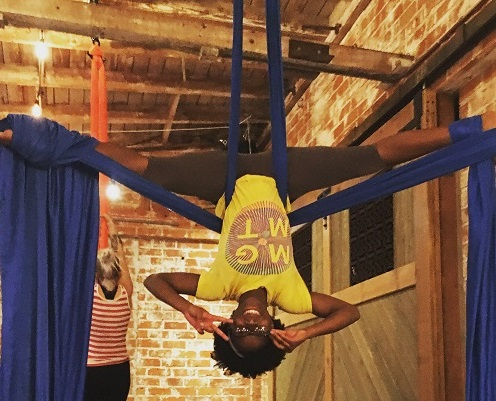 Sometimes I feel like my hobbies are all over the place. Often, you can catch me reading a book or exploring a museum. Other times, I'm doing things that both impress and scare my parents! Instead of hitting the gym, throughout the years I've taken up aerial silks, acrobatic yoga, and roller derby. I love discovering my strength and creativity in new ways, and getting to meet so many amazing people through these ventures.