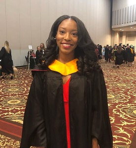 At her Spring 2018 graduation from University of Georgia.