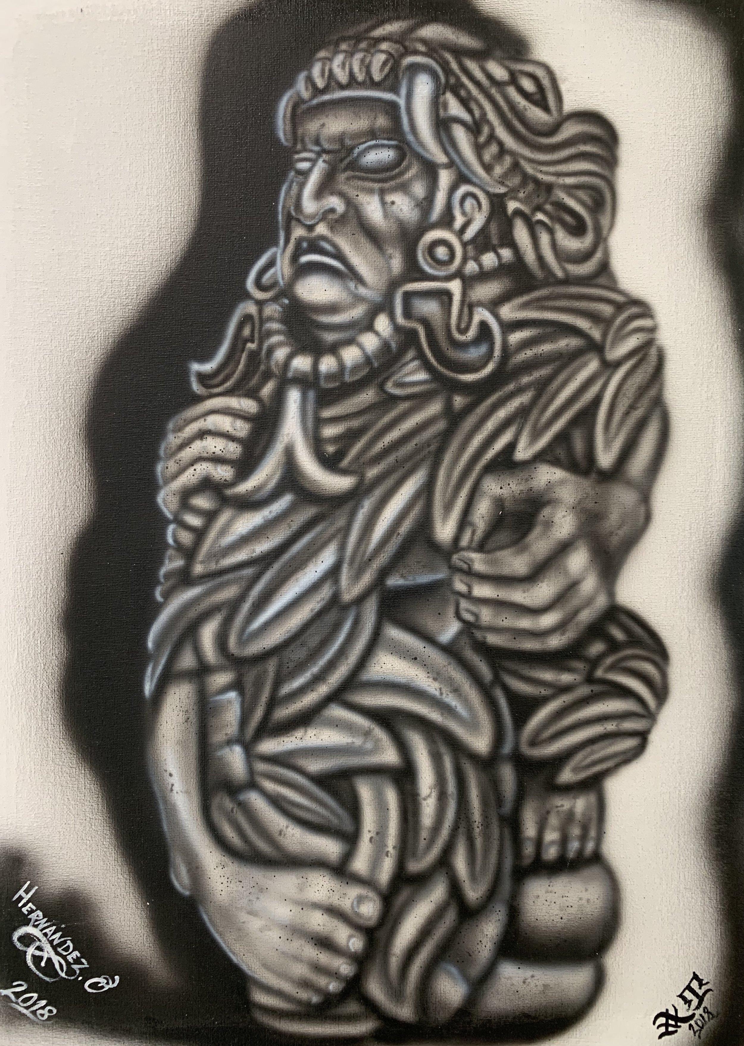 Julio, Quetzalcoatl - Aztec Figure -