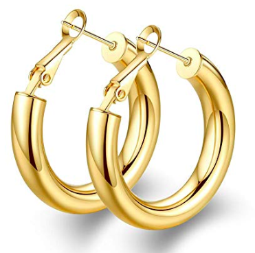gold hoops - $13
