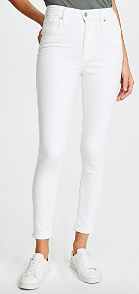 levi's mile high ankle skinny jean - have these in blue denim and they are so comfortable - size up 1 size