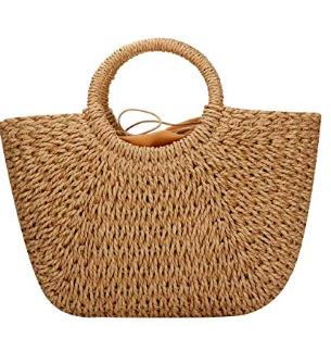 straw beach bag -