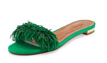 fringe slide sandals -