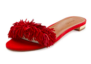 love the bright red -
