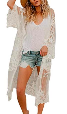 white kimono cover up -