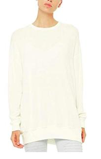 alo white pullover -
