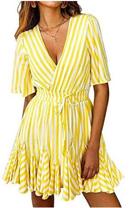 yellow ruffle sundress -