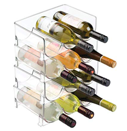 clear lucite wine bottle holders -