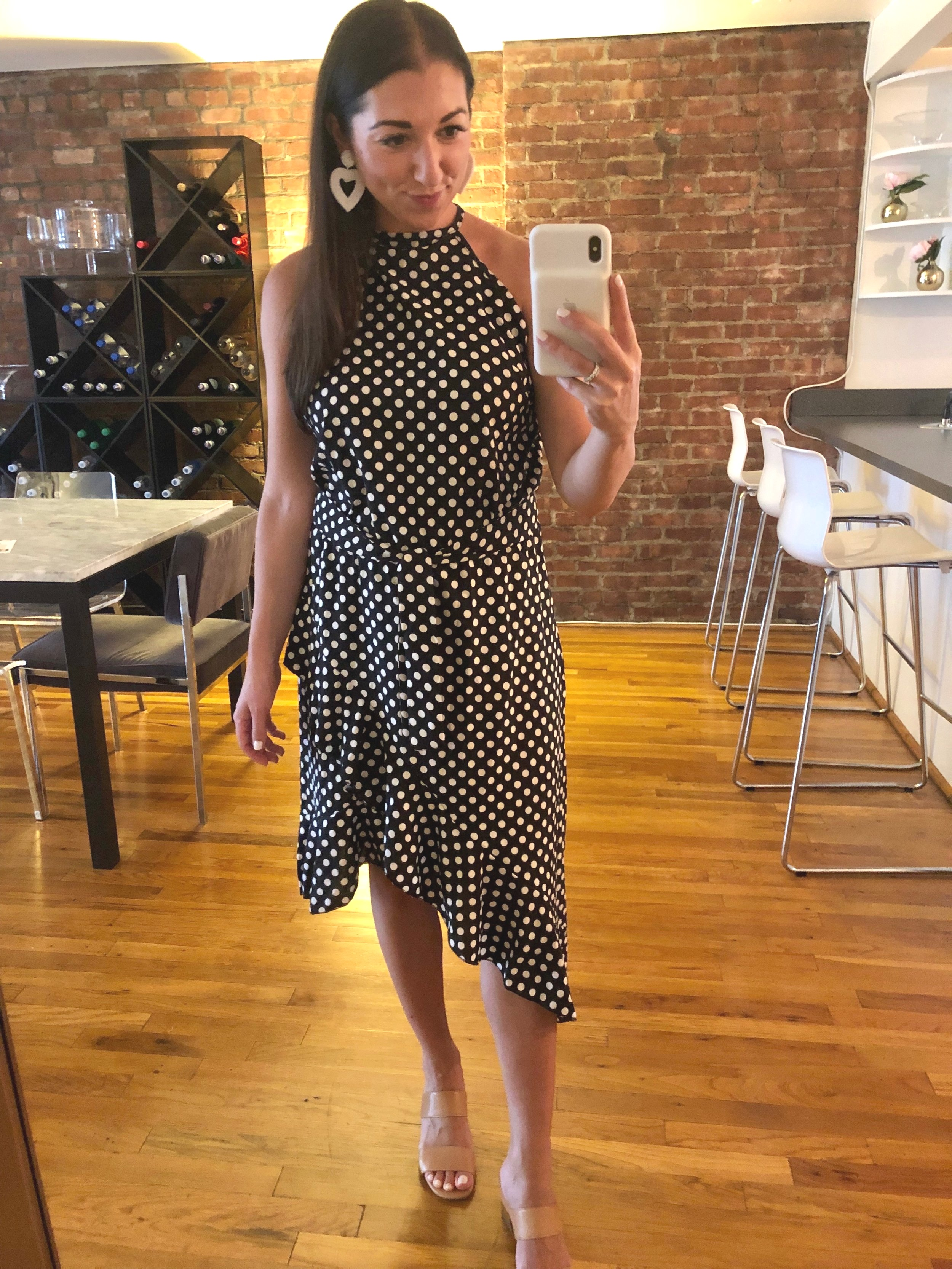 the easy breezy polka dot dress you need for the final days of summer -