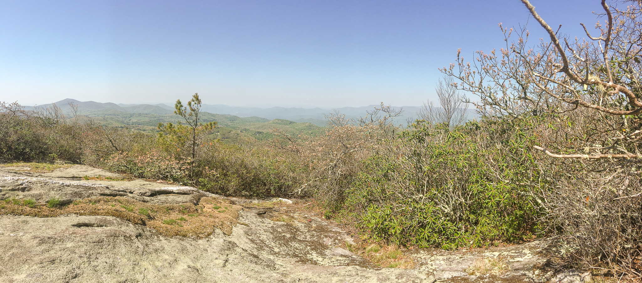 View from the top of Whiteside Mountain