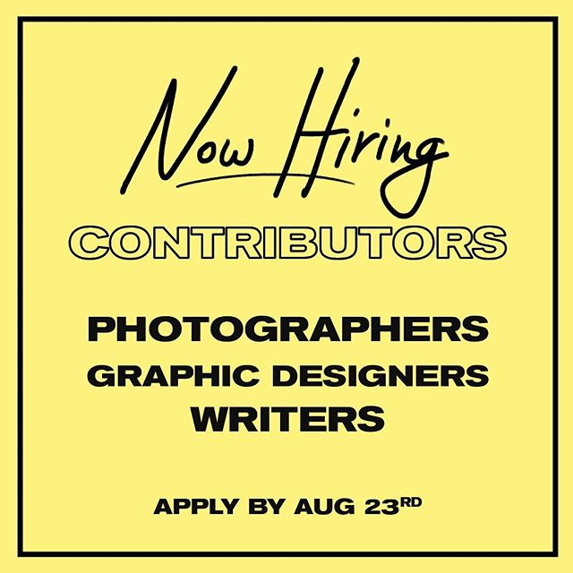 we're looking for more stellar photographers, designers, writers, social media managers, and a copy editor! if you're a creative with a passion for music and making it heard apply to the link in our bio!✨ if you have any questions email us at hearteyesmag@gmail.com💌
