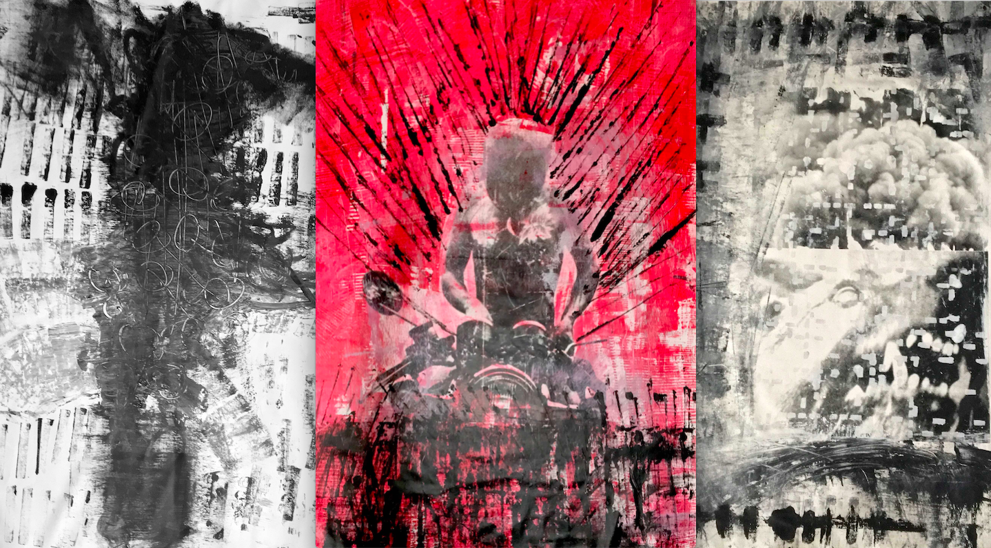 The Supreme Exodus, 2019 - Acrylics & Silkscreening on Canvas