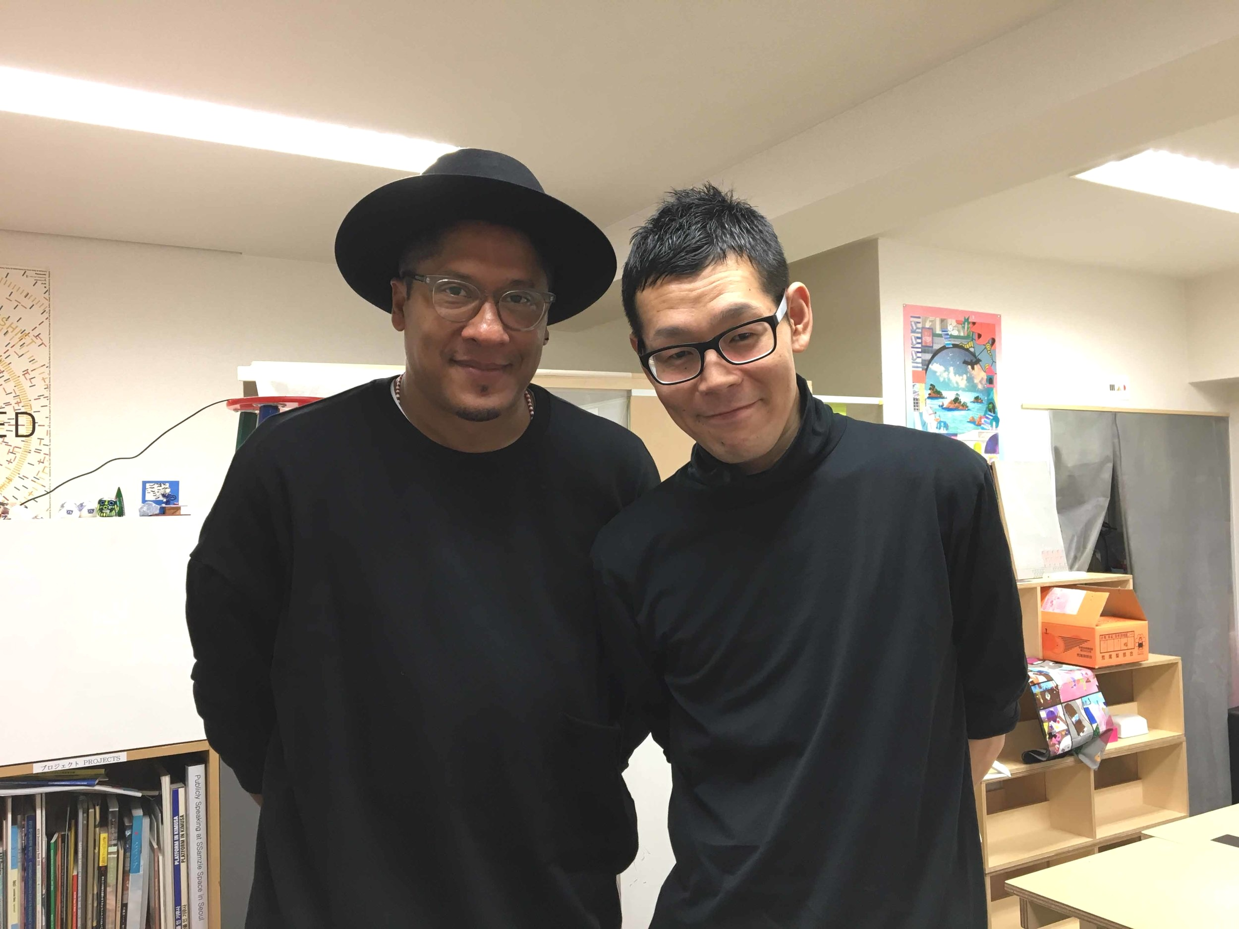 With Shintaro Tokairin