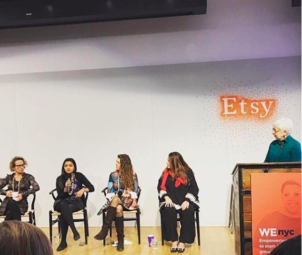 Etsy x WENYC  December 2016   Women Entrepreneurs New York City (WE NYC) and are teaming up to provide you with expert advice from women entrepreneurs and industry experts around what it takes to take your business to the next level.   Our featured speakers will provide insight on how you can establish and grow a successful business in a Maker Economy!  Founders and CEOs from  Eleni's New York ,  Food to Eat ,  Blue Marble Ice Cream  and  Ellary's Greens  will share their entrepreneurial journeys - their motivations, the lessons they have learned along the way, and the advice that they wish someone gave them.  Topics for discussion will include:  how to create an innovative business model  how to sell your products to the world  how to increase sales.