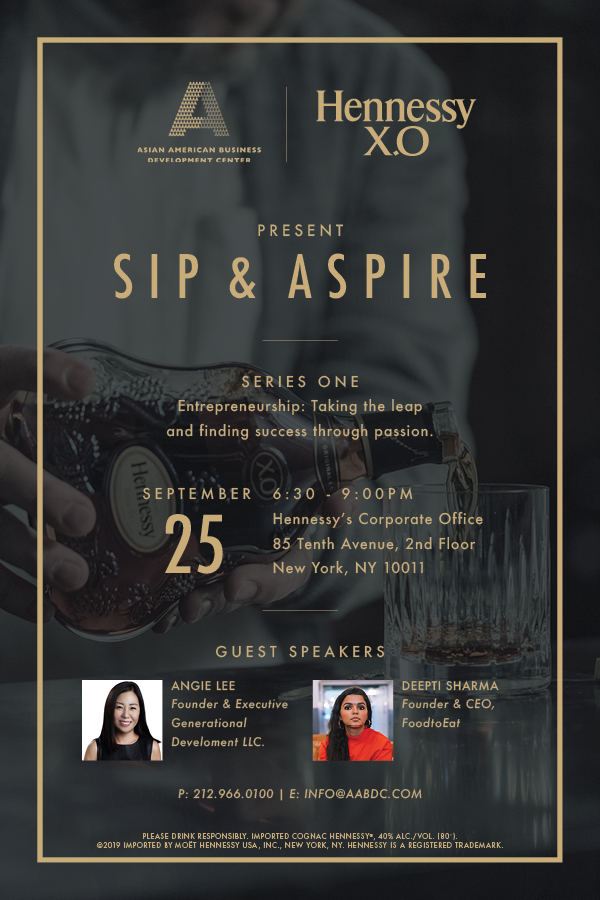 """SIP & ASPIRE Series- Fireside chat  on """"Entrepreneurship: Taking the leap and finding success through Passion"""""""