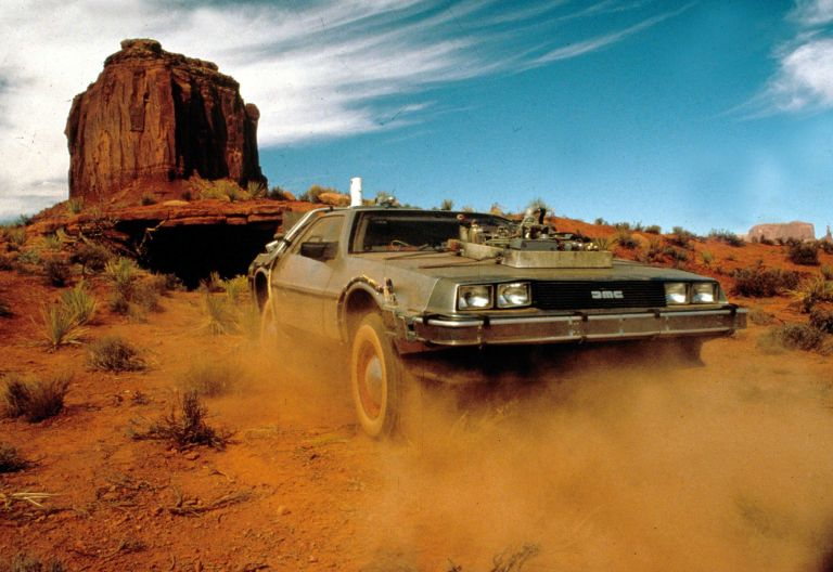 The time travelling DeLorean in the wild west.